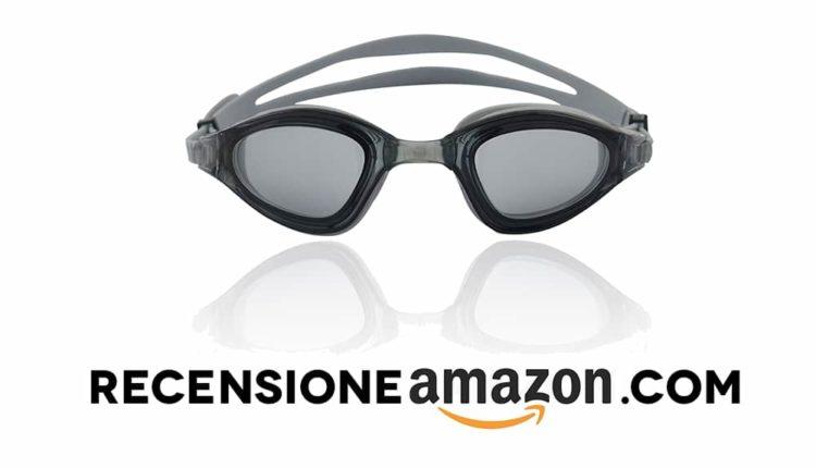 Occhialini da nuoto, 100% protezione raggi UV + anti-appannamento